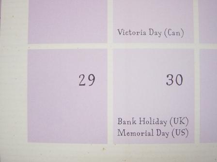 幼児英語カレンダー 2011年
